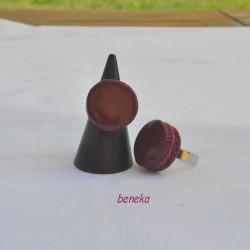 Bague - Macaron bordeaux