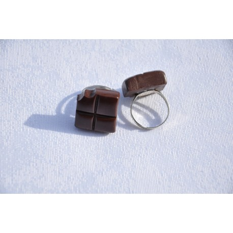 Bague carreau de chocolat