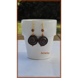 Boucles d'oreilles praliné boule