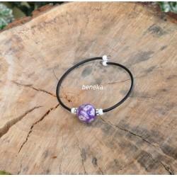 Bracelet fleurettes violet