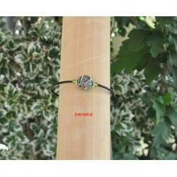 Bracelet aztèque noir et vert