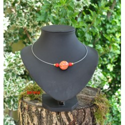 Collier veron rouge et orange