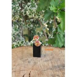 Bague fleurettes orangées