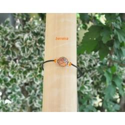Bracelet fleurettes orangées