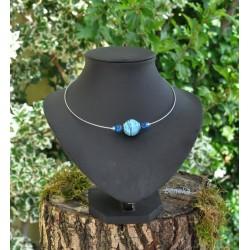 Collier Veron bleu