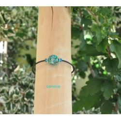 Bracelet fleurettes bleu lagon