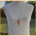 Collier - Sautoir - Glace orange