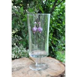 Boucles d'oreilles fleurettes violet