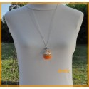 Collier - Sautoir - Cupcake orange