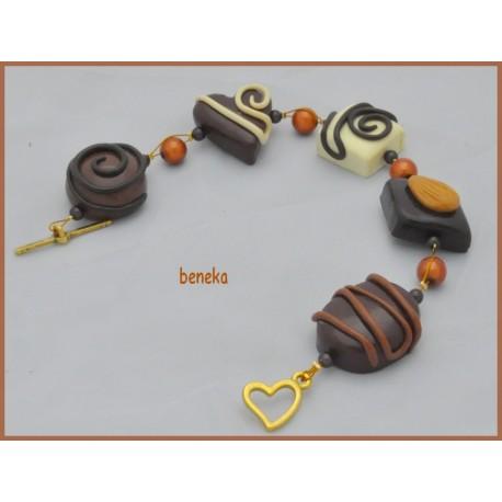 Bracelet praliné