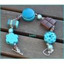 Bracelet - Macaron bleu