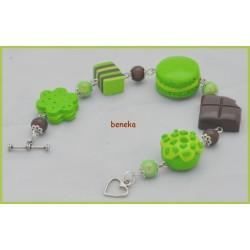 Bracelet macaron vert pomme